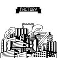 industrial factory background vector image