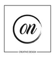 initial letter on logo template design vector image vector image