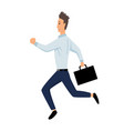 jumping business people business man jumps with vector image vector image