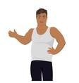 Junk Food Consumption Man Before Weight Loss vector image