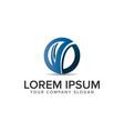 letter v modern circular logo design concept vector image vector image