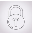 lock security icon vector image vector image