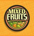 logo for fruits vector image vector image