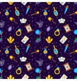 Magic decorative icons seamless pattern vector image vector image