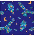Magic midnight - seamless pattern vector image