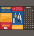 medicine infographic template elements and icons vector image