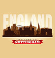 nottingham united kingdom city skyline silhouette vector image vector image