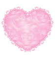 pink heart - notepaper vector image