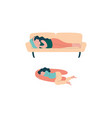 pregnant woman lifestyle with happy expectant vector image