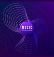 radial sound wave curve colorful blue and purple vector image vector image