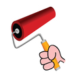 roller for painting color vector image