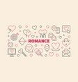 romance line banner made with heart and vector image vector image