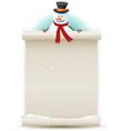 santa snowman background vector image vector image