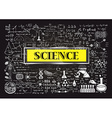 science on chalkboard vector image vector image