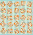 seamless pattern with gift boxes in the dots vector image vector image