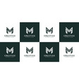 set initials letter m abstract logo design vector image vector image
