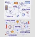 set modern thin line sales concept vector image
