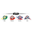 set of football or soccer national team group e vector image vector image