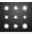 set stars and sparkles lights effects vector image