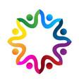social media team hug people logo image vector image vector image