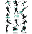 sport silhouette vector image vector image