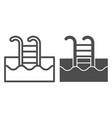 swimming pool line and glyph icon swim vector image