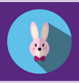 the is a picture of a pink rabbit ear vector image