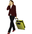 travelling woman vector image vector image