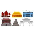 urban attributes of modern china and symbols of vector image vector image