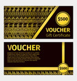 voucher certificate golden template vector image
