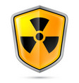 warning sign on shield indicating of radiation vector image
