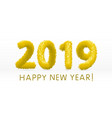 wooly yellow hairy shaggy wool 2019 happy new vector image