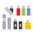 Set of the USB flash-drives vector image