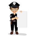 smiling little boy wearing police uniform vector image