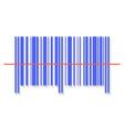 Scanning bar code red laser line vector image