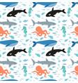 seamless pattern of sea animals vector image