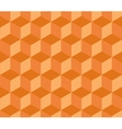 Abstract orange striped 3d cubes geometric vector image