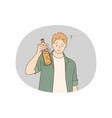 alcohol addicted spirit drinks drinking lone vector image