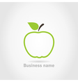 Apple business name background vector image vector image