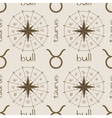 Astrology sign Bull Seamless pattern vector image