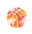 basketball orange halftone vector image vector image