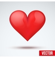 beautiful bright red heart vector image vector image