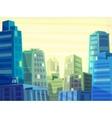 beautiful sunrise over cartoon city vector image