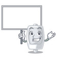 bring board urinal isolated with in the mascot vector image