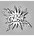 Bubble pop art of crash design vector image vector image