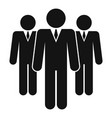 business people group icon simple style vector image vector image