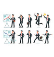 businessman character office employee workers vector image vector image