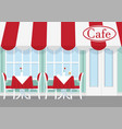 cafe or restaurant table vector image vector image