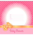 Card template for Baby Shower vector image vector image