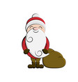 clip art santa cartoon vector image